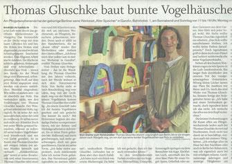 Vielfarbenhaus, Vogelhäuser von Thomas Gluschke, Spatzentraum, Holzberührungen