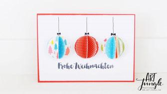 Weihnachtskugel Karte Weihnachten basteln