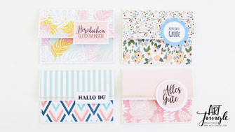 Karten selber basteln Umschlag diy