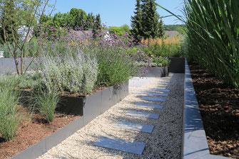 Dachgarten Hochbeet Rabatten Bepflanzungen