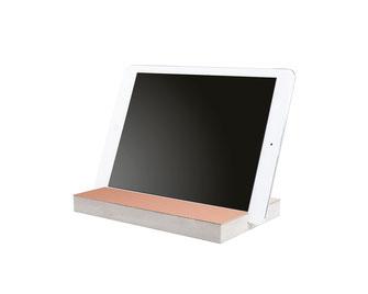 Bild: Holzständer iPad tablet Halter aus Holz mit Kupfer
