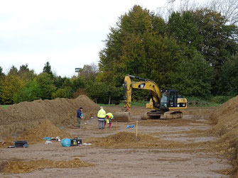 Ausgrabungen an der neuen Ortsumgehung L50n am Adenauerring Setterich.