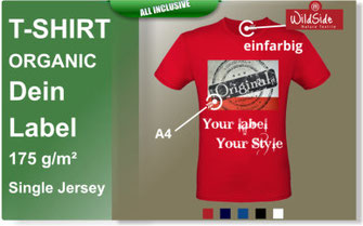 T-Shirts druck,Organic,bio baumwolle,
