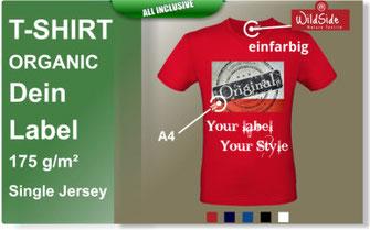 T-Shirts aus Bio Baumwolle mit Ihrem Logo oder Motiv