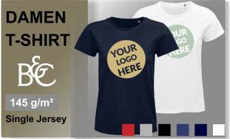 Damen T-Shirt mit Ihrem Logo oder Motiv