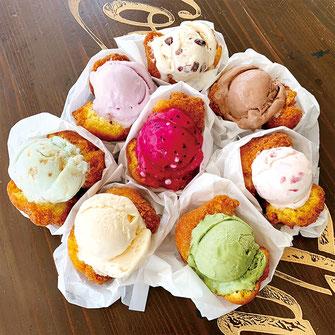 カメアンダギー×ブルーシールアイスクリーム
