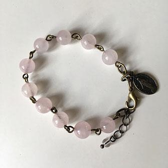 Faits de quartz rose ce bracelet fantaisie galinou création est mode