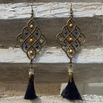 C'est avec fantaisie Galinou création crée des boucles et bijoux à la mode et tendance .