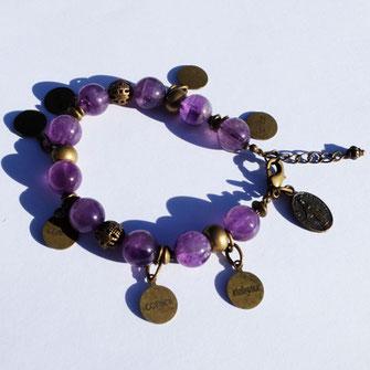 Galinou création propose des bracelets fantaisie en améthyste.