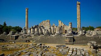 Temple d'Apollon à Didim en Turquie