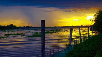 Couché de soleil Delta du Mékong - Vietnam
