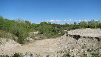 Landschaft Kiesgrube Schredder