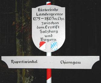 Historisches Grenzschild