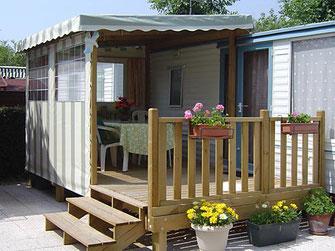 Terrasse Couverte De Mobil Home Terrasse De Mobil Home Ainsi Que