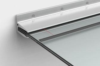 Vordachglas einsetzen VSG Sentryglas