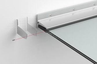 fertiges freitragendes Vordachsystem mit Sentryglas