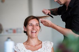 Hochzeit Make-up braut braid