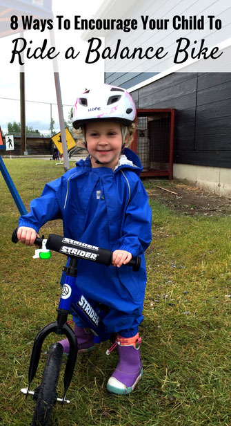 Use these 8 tips to encourage your child to ride a balance bike. Before you know it, you'll be riding bikes side-by-side. Read more at www.FamilyCanTravel.com
