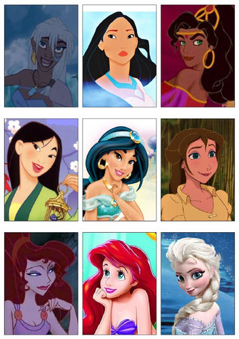 Kakao-Bogen: Walt Disney-Mädchen (Vorlagen)