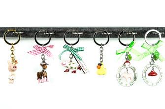 Schlüsselanhänger, silver, Glücksschwein, Glückspilz, Ente,