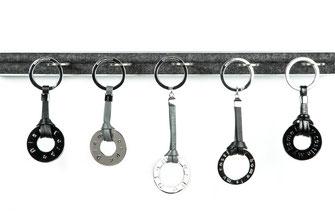 Schlüsselanhänger, my home, silver,