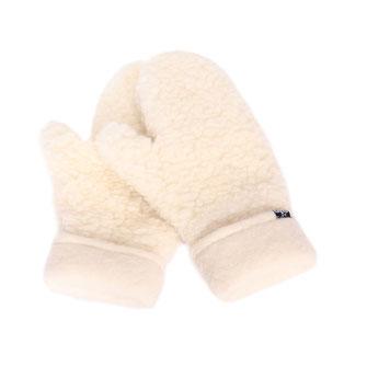 Moufles en pure laine de mouton naturelle mitaine moufle lainage only mouton blanc écru beige femme homme