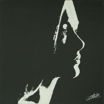 Peinture contemporaine profil féminin par erik black