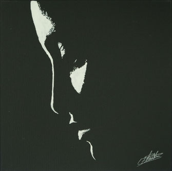 portait par erik black en peinture acrylique