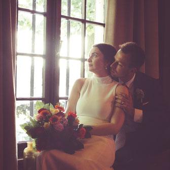 nowożeńcy okno
