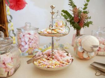 Verleih Etagere silber Candy Bar Landshut Dingolfing Niederbayern