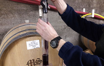 bei der Faßweinprobe wird Ihnen auch gezeigt wie der Winzer seine unterschiedlichen Weine kreiert.