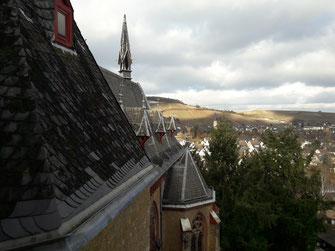 Die Aussicht vom Kloster Calvarienberg hinunter auf Ahrweiler gehört für die Öffentlichkeit bald der Vergangenheit an. Das Anwesen wurde verkauft und die Ursulinen Schwestern werden nach Trier umziehen.