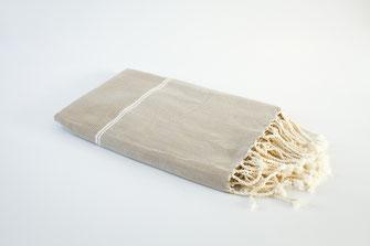 fouta naté beige 1mx2m
