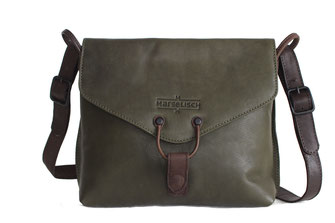 Damen Ledertasche von Margelisch in mud green
