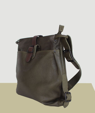 Margelisch Ledertasche Nuria mud green