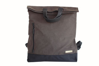 Margelisch Canvas shopper Rucksack in khaki