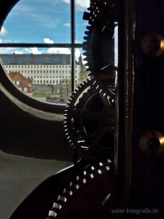 Blick vom Rathausturm zum Schloss Friedenstein
