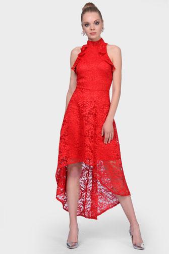 Kurze kleider layoura for Rotes brautkleid kurz