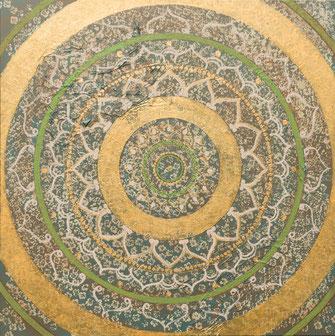 """Originalgemälde """"Solid Mandala"""" 120 x 120cm"""