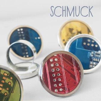 Schmuck: Ringe mit Leiterplatte