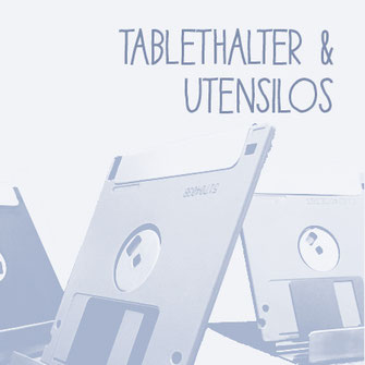 Tablethalter aus Compact-Discs