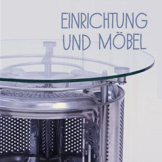 Möbel: Couchtisch aus Waschmaschinentrommel
