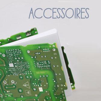 Accessoires : Notizbuch aus Leiterplatten