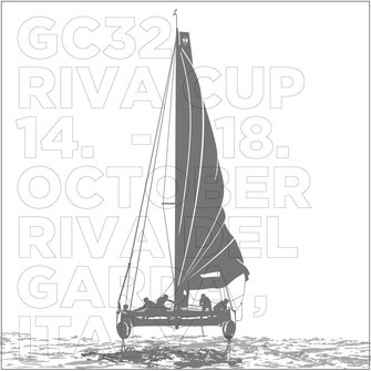 Catamaran Sail Boat GC32 Grafic Vector Advertising Typography Riva del Garda