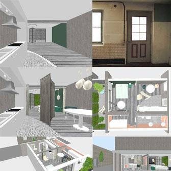 Altstadthaus Umbau Materialisierung Innenarchitektur Inszenierung Polydual Studio