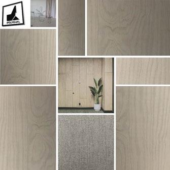 Moodboard mit Plywood Beispielen
