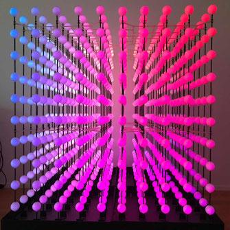 300000 animierte und steuerbare Farben im Kunstwerk