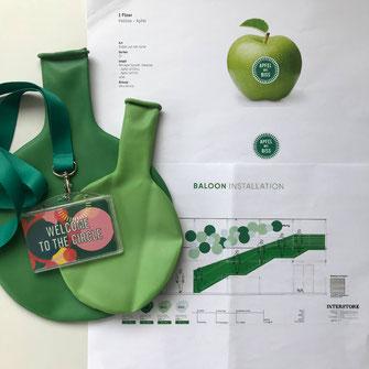 grünes Ballonkonzept Euroshop Düsseldorf 2020