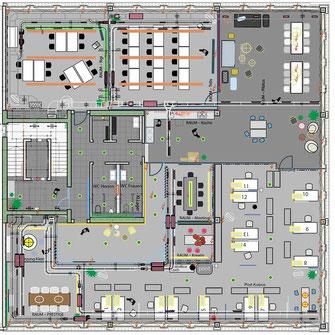 Grundrissplan und  Möblierungsplan von RE/MAX Switzerland  House of Real Estate in Rothenburg