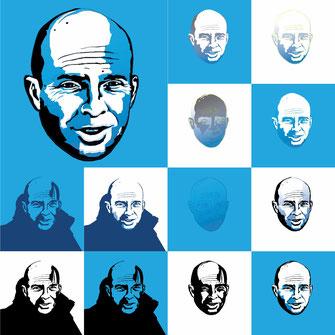 Portrait Studie für ein Kundenauftrag Profilbild